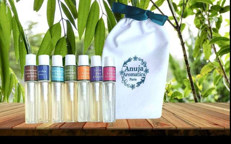 échantillons 7 parfums naturels avec pochon en velours