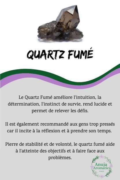 Quartz fumé - Signification, Propriétés, Bienfaits et Vertus de la Pierre en Lithothérapie