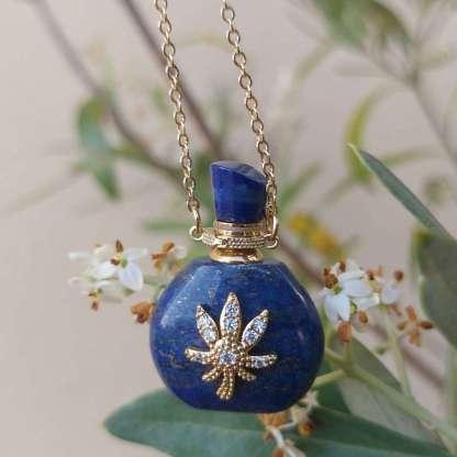 Pendentif diffuseur de parfum Élisabeth en Lapis Lazuli