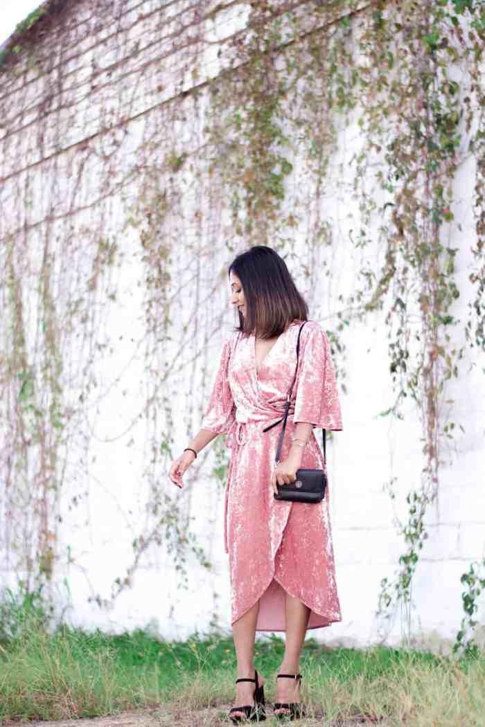 Blush Velvet Dress | Holiday Style