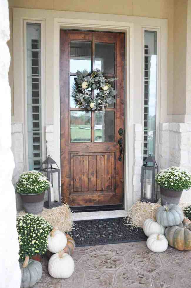 fall front porch styling