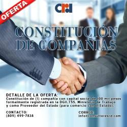 Constitución de compañías
