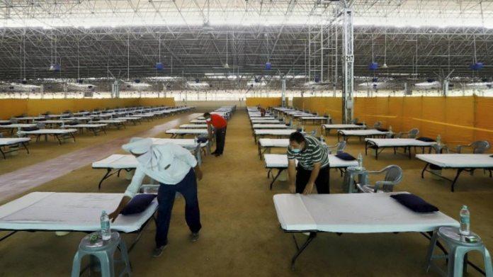 दिल्ली के राधा सोमी सत्संग ब्यास के मैदान में 10,000 बेड का कोविद -19 सुविधा