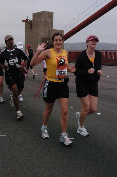 Suzi and Melissa on the bridge