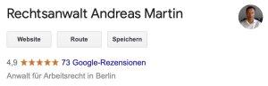 Rechtsanwalt Andreas Martin - Bewertungen auf Google Business