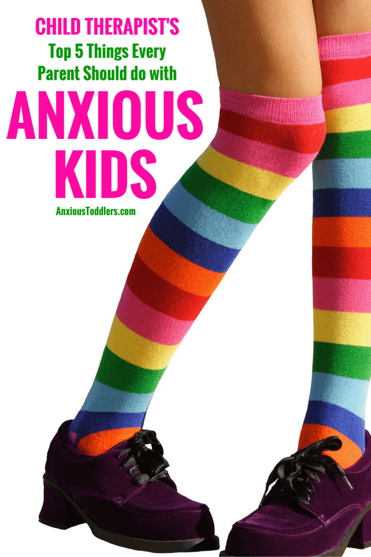 Confused about how to handle your anxious kids? Here are the top 5 things I advise parents to do to help their anxious kids.