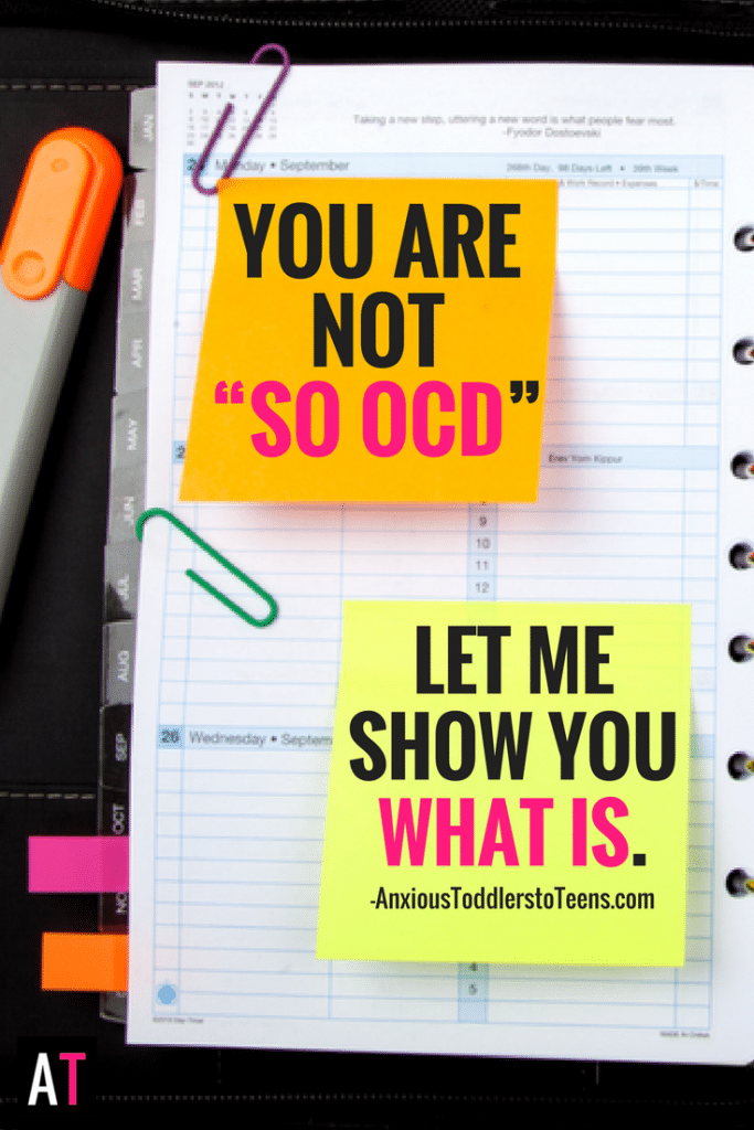 "If you think you are ""so OCD"" you probably don't understand OCD. But, here's what is…"