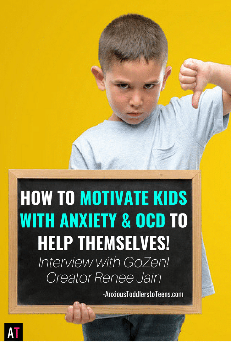 It is hard to motivate kids with anxiety and OCD to help themselves. Learn tips on empowering kids with anxiety & OCD in my interview with Renee Jain.