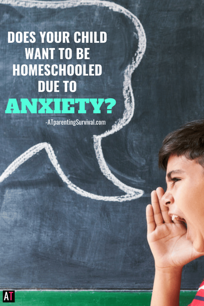 Does your child beg to be homeschooled due to their anxiety? Do they think their anxiety will just go away if this one simple thing could happen?