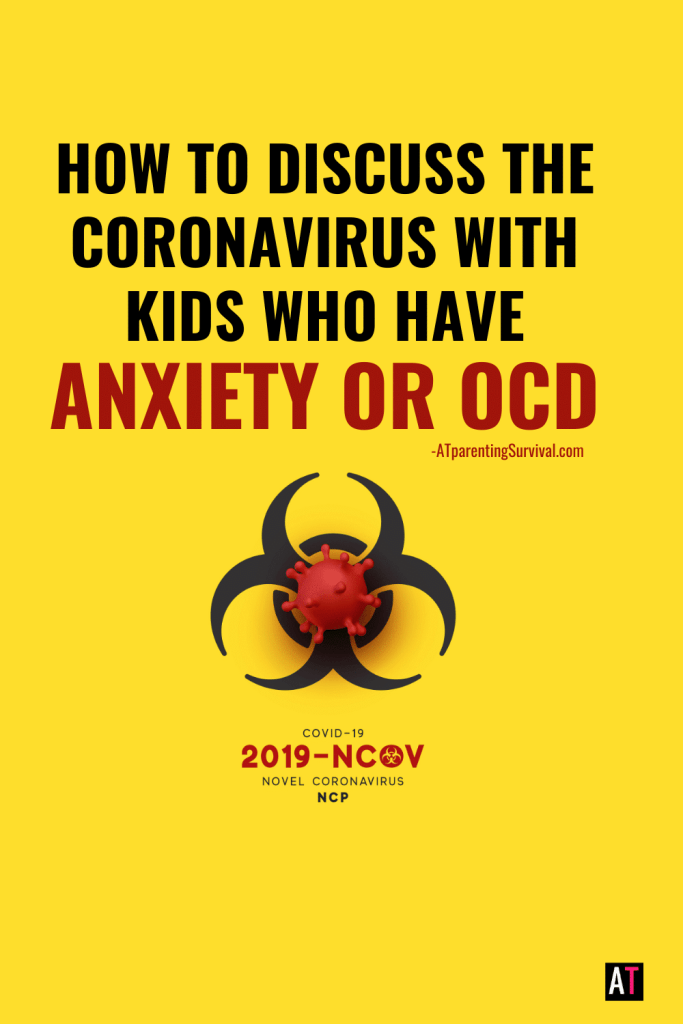 Struggling with how to explain the Coronavirus to kids with anxiety or OCD? Here is a simple and informative explanation that can reduce panic.