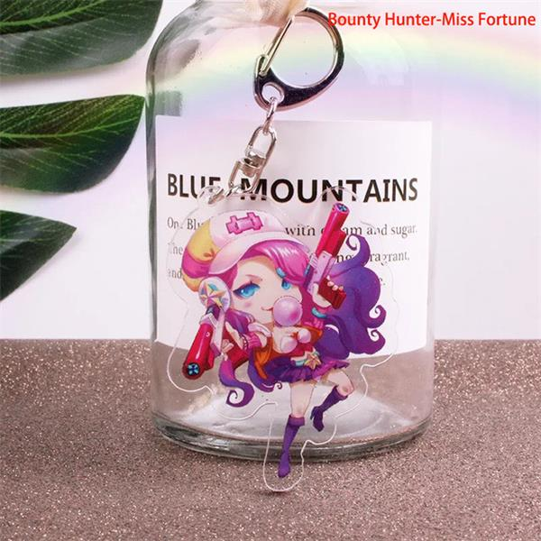 League of Legends LoL Game Champions Hero Miss Fortune Cute Cartoon Figure Keyring Keychain