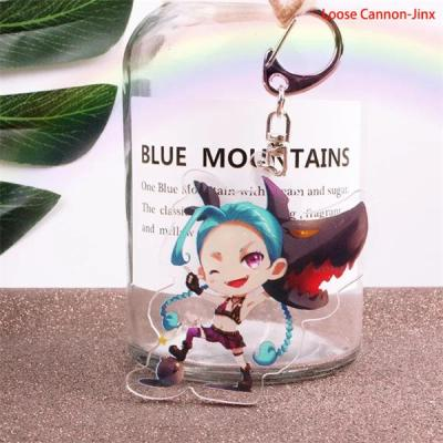 League of Legends LoL Game Champions Hero Cute Cartoon Figure Keyring Keychain
