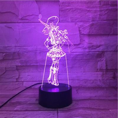 League of Legends LoL Caitlyn 7 Colors Touch Sensor Table Lamp