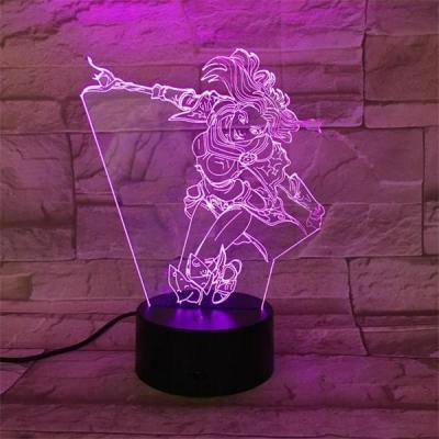 League of Legends LoL Lux 7 Colors Touch Sensor Table Lamp