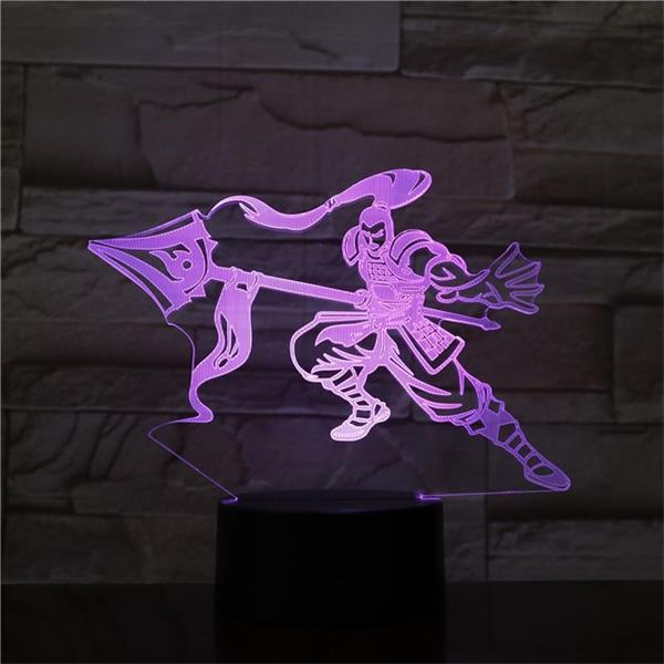 League of Legends LoL Xin Zhao 7 Colors Touch Sensor Table Lamp