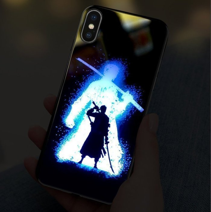 One Piece Zoro LED Colorful Glowing Phone Case For iPhone