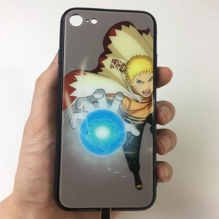 Naruto LED Colorful Glowing Phone Case For iPhone