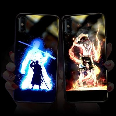 One Piece Ace LED Colorful Glowing Phone Case