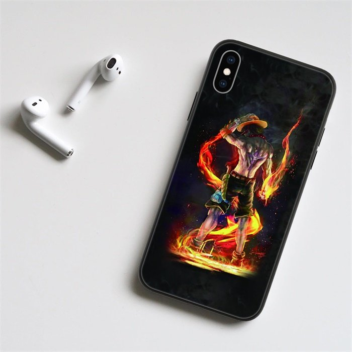 One Piece Ace LED Phone Case For iPhone