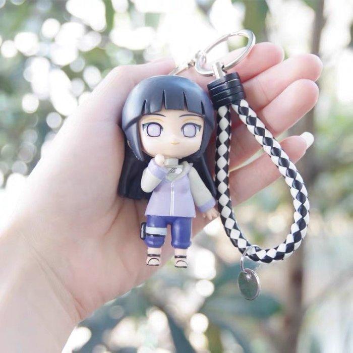 Naruto Hinata Cute Cartoon Figure Keyring Keychain