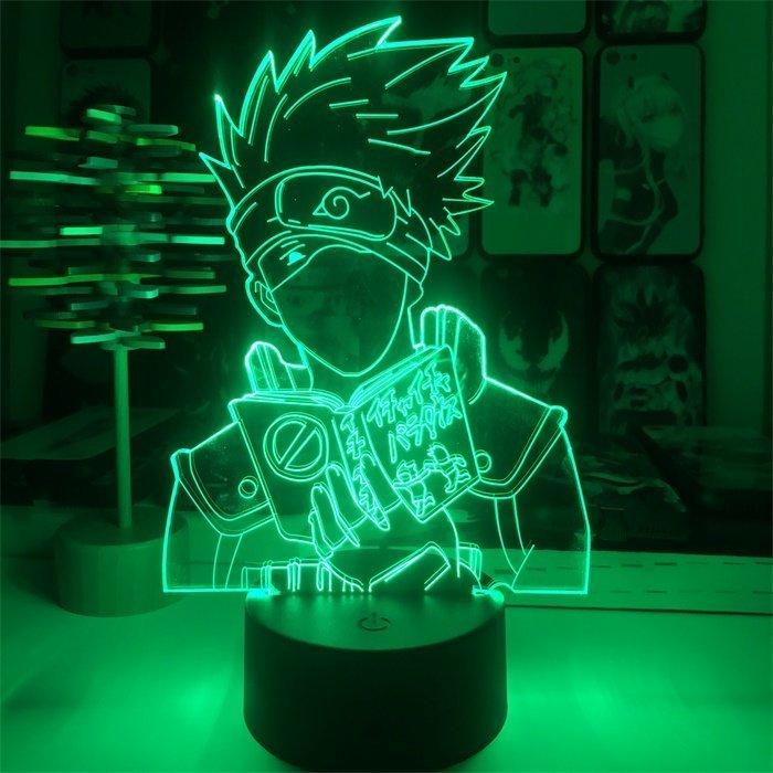 Anime Naruto Kakashi 16 Colors Table Lamp