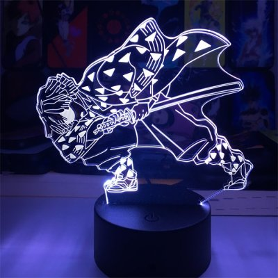 Anime Demon Slayer Zenitsu 16 Colors Table Lamp