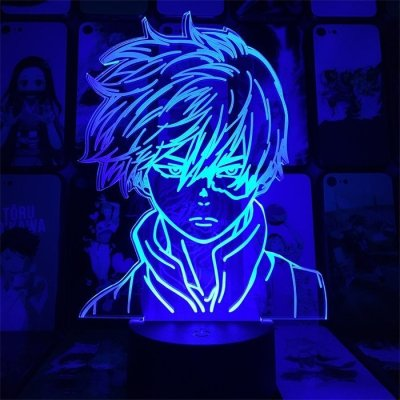 Anime My Hero Academia Todoroki 16 Colors Table Lamp
