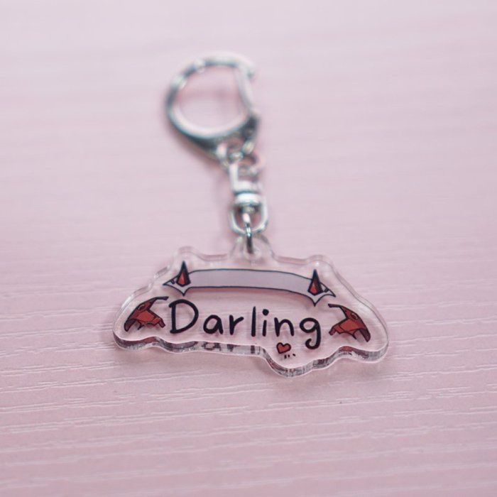Darling in the Franxx Zero Two Keyring Keychain