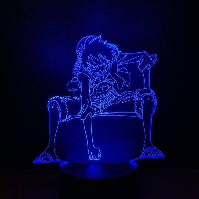 Anime One Piece Luffy 16 Colors Table Lamp