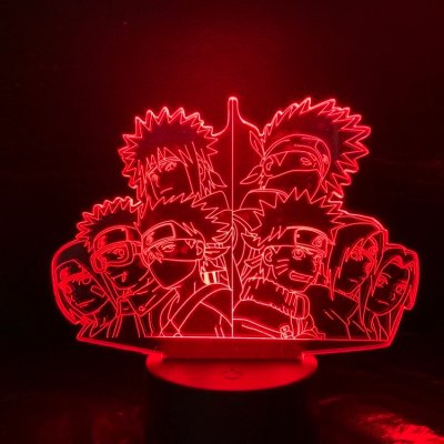 Anime Naruto Team 16 Colors Table Lamp