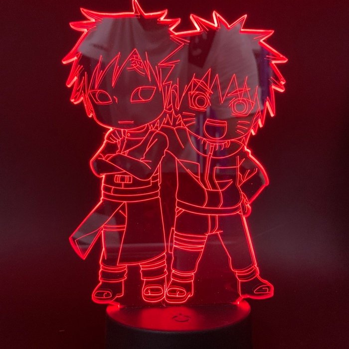 Naruto and Gaara 16 Colors Table Lamp