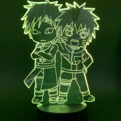 Naruto and Gaara 16 Colors Table Lamp