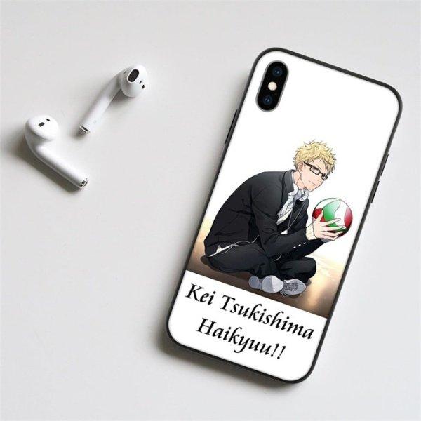 Anime Haikyuu!! Tsukishima LED Phone Case For iPhone