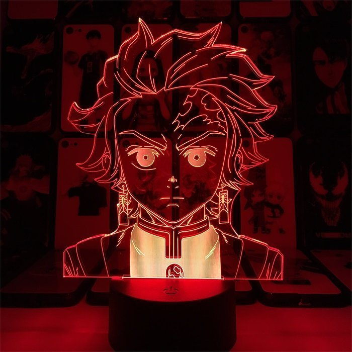 Anime Demon Slayer Tanjiro 16 Colors Table Lamp