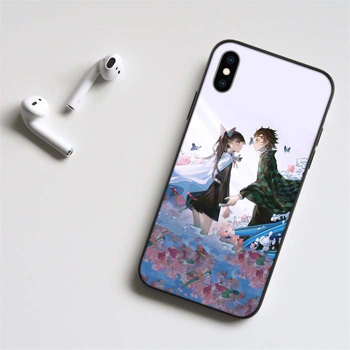 Tanjiro and Kanao LED Phone Case For iPhone