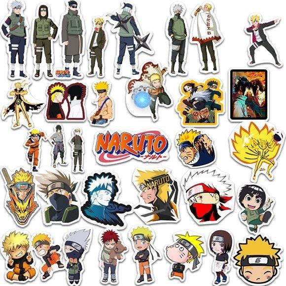 100PCS Anime Naruto Sasuke Kakashi Itachi Stickers