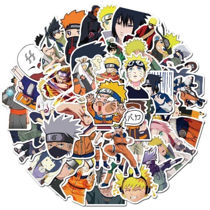 50PCS Anime Naruto Sasuke Kakashi Itachi Stickers