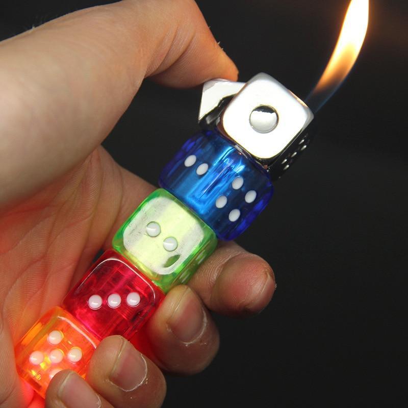Dice Strip Flame Gas Lighter