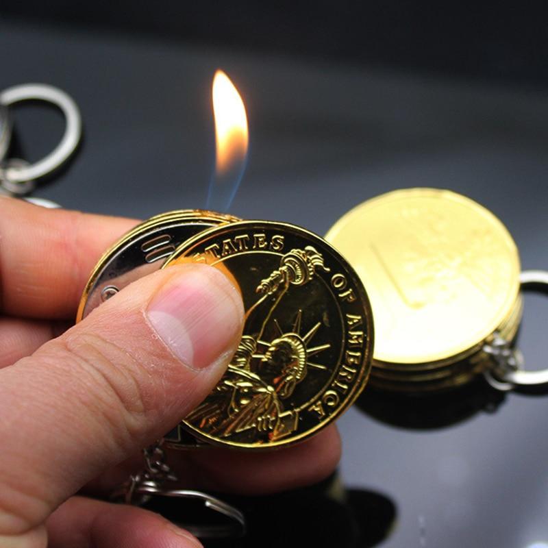 New Metal Free Fire Butane Lighter