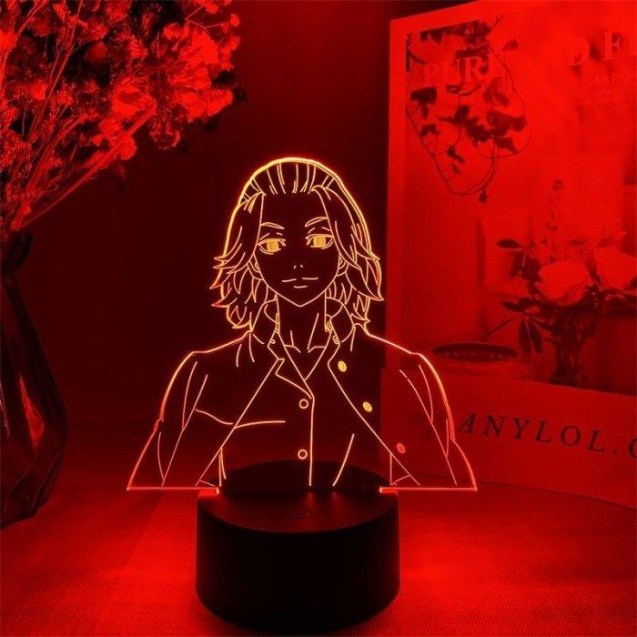 Tokyo Revengers Mikey 16 Colors Table Lamp V1