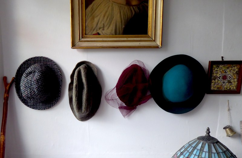 hats as feature in hall
