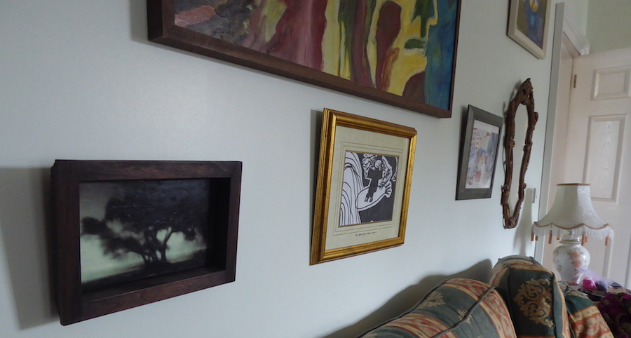 paintings on wall as display