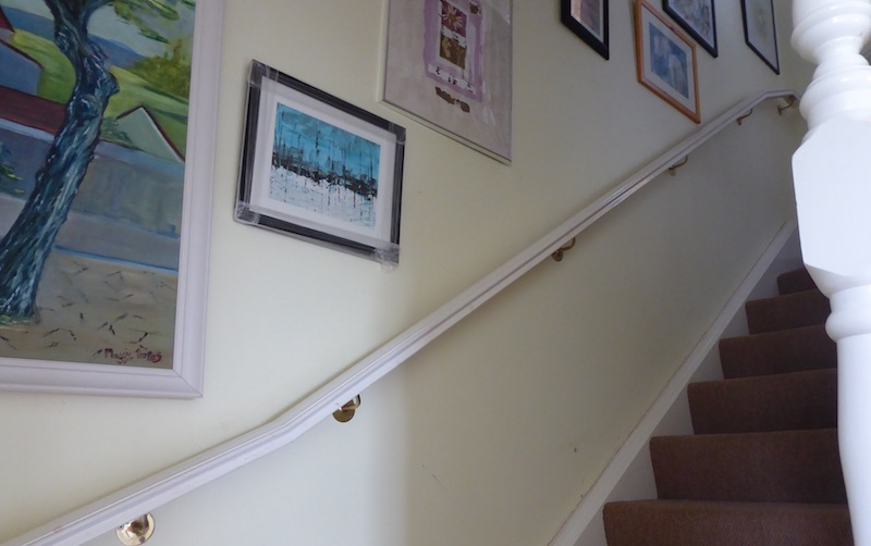 paintings on stairs