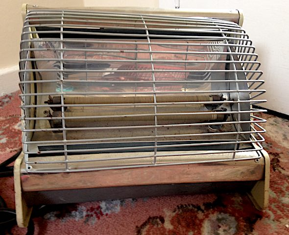 old 2-bar electric heater