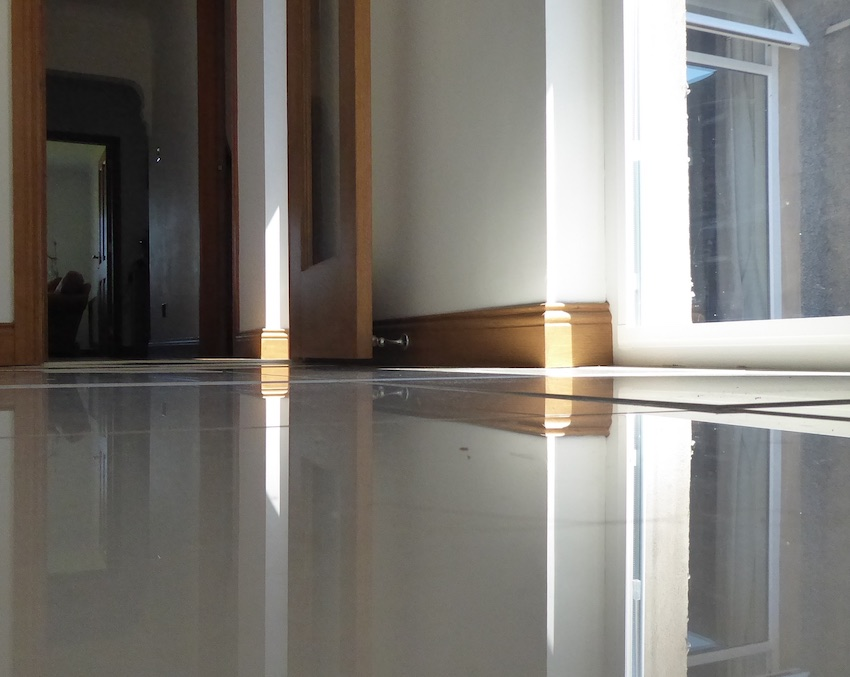 reflections on kitchen tiles