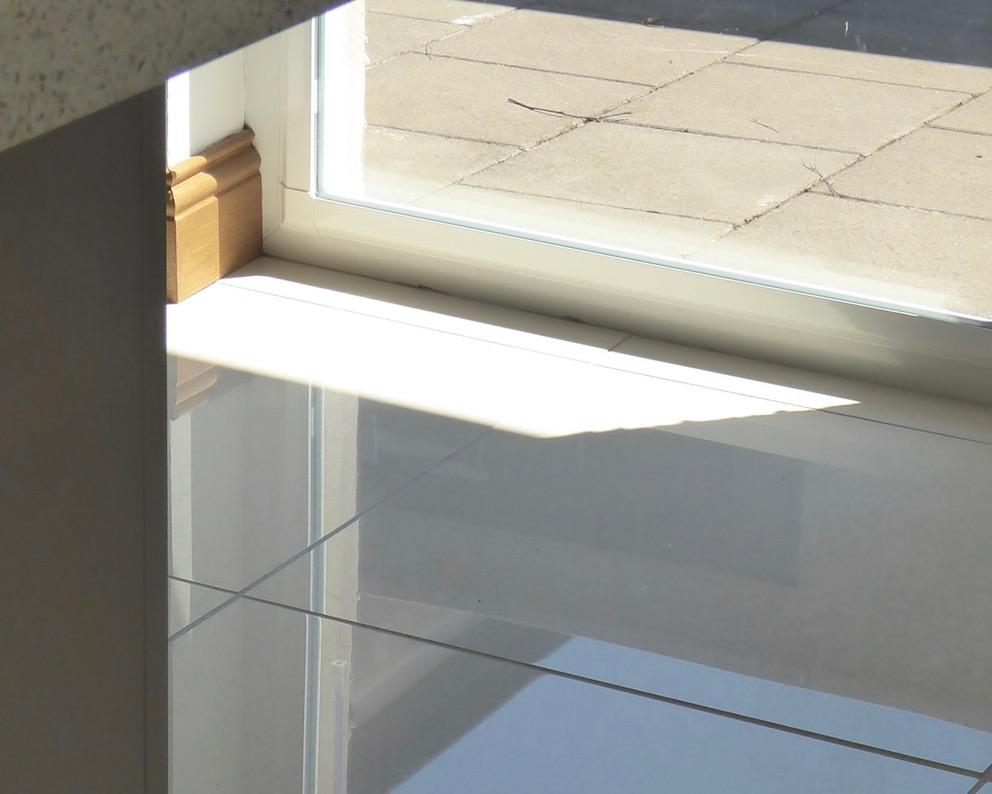reflections through window