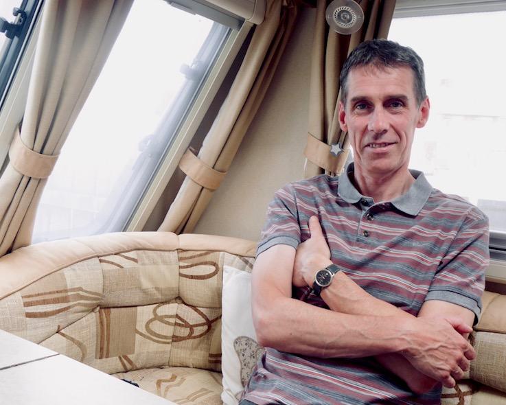 caravan owner sitting