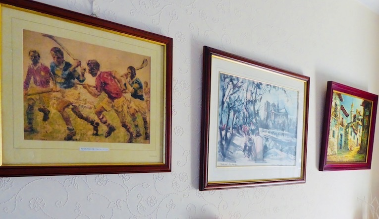 3 pictures on wall