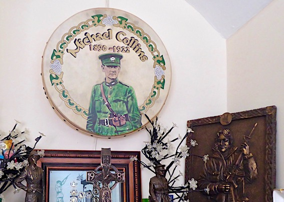 Irish shrine to Michael Collins in family home