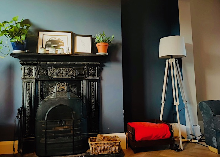 cast iron fireplace in doctor's house